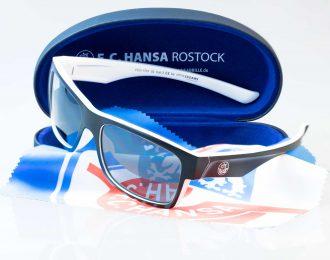 F.C. Hansa Rostock Sonnenbrille – schwarz-weiss – Hansa Kombiangebot