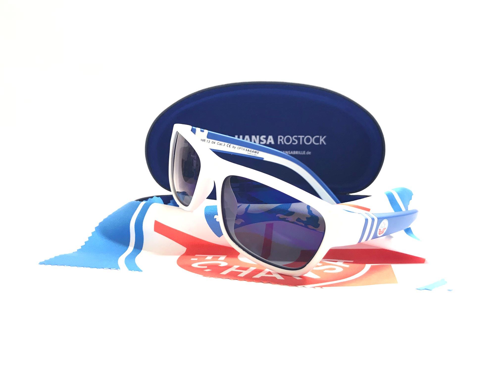 F.C. Hansa Rostock Sonnenbrille – weiss / blau im Hansa Kombiangebot