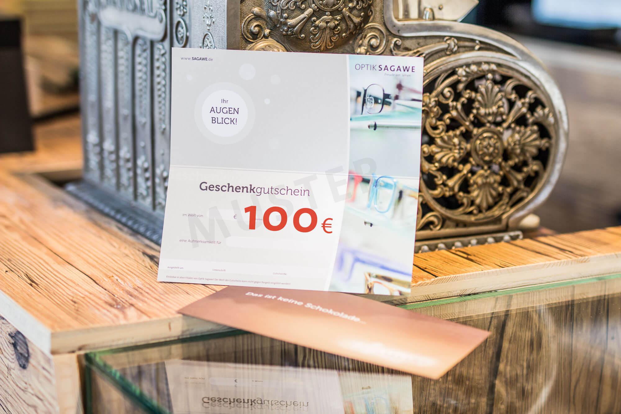 Geschenk Gutschein über 100 EURO