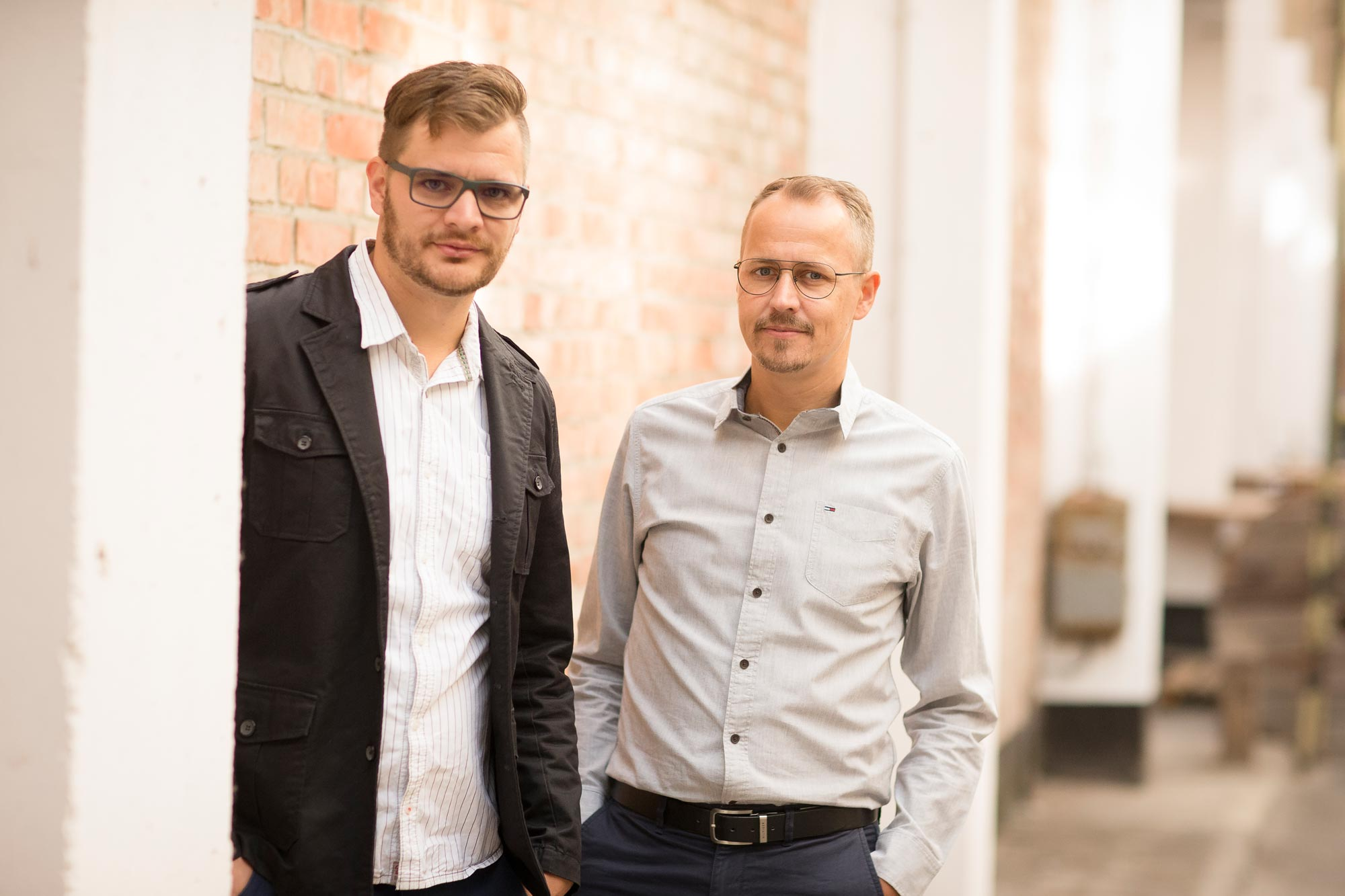 Andreas Techow und Matthias Sagawe von Optik Sagawe in Rostock haben Freude am Sehen