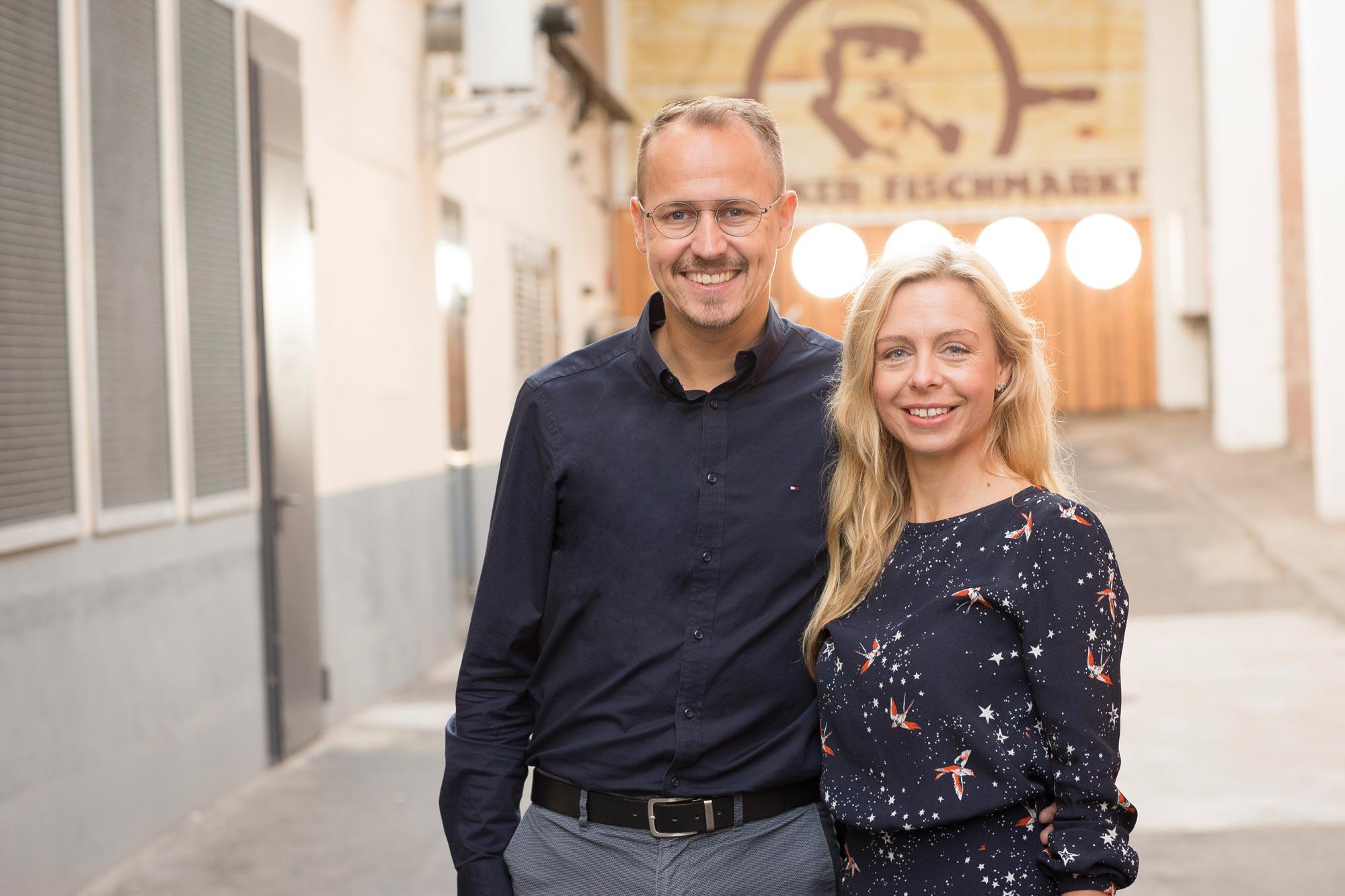 Die Inhaber von Optik Sagawe in Rostock - Ehepaar Katrin und Matthias Sagawe