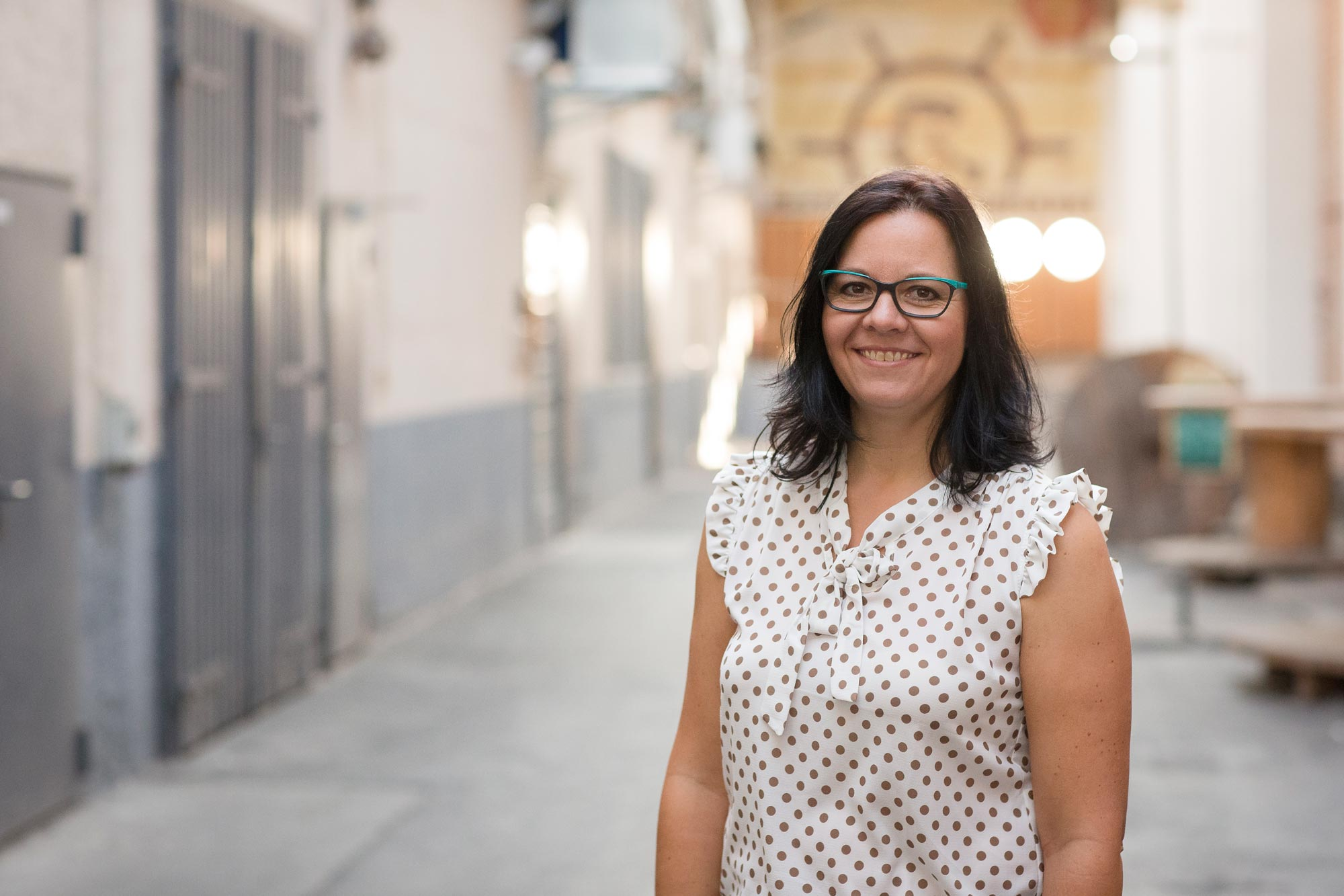 Katja Ellner ist Augenoptikermeisterin bei Optik Sagawe in Reutershagen