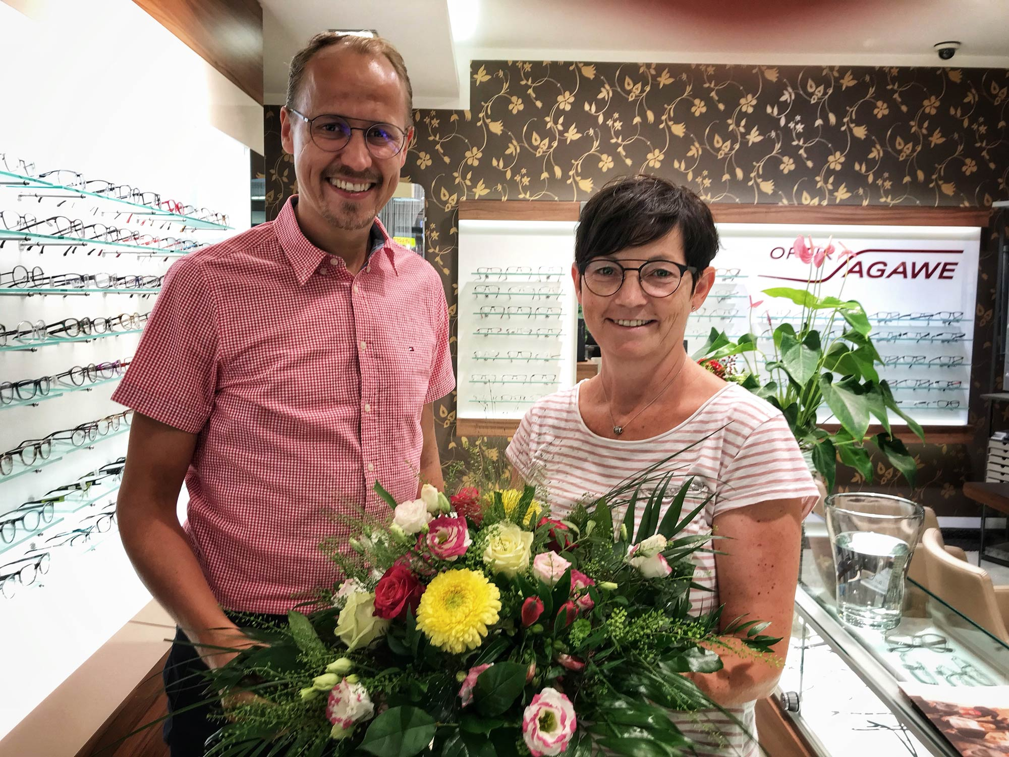 30 Jahre im Unternehmen von Optik Sagawe - Sibylle Weinaug