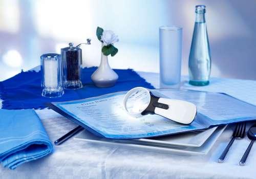 Low Vision LED Handlupe gibt es bei Optik Sagawe in verschiedenen Vergrößerungen.